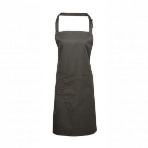 Grey Full Length Bib Apron