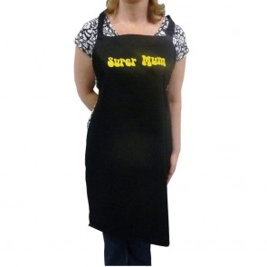 Super Mum Black Bib Apron (End of line)