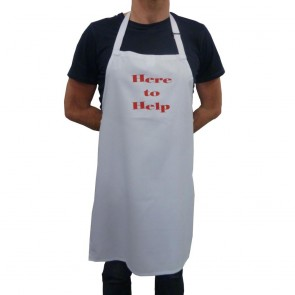 Here to Help White Bib Apron (End of line)