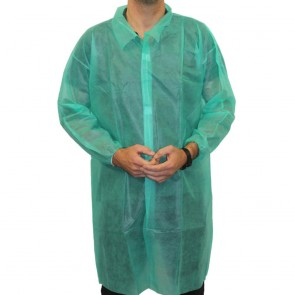 Non-Woven Coat (Velcro Fastening) - Green
