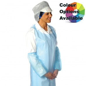 Disposable Polythene Aprons - On a Roll (200 Pack)
