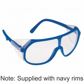 Aries Navy Blue Safety Glasses