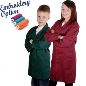 Embroidered Kids Work Coat