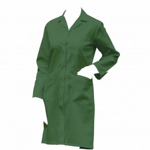 "Clearance Ladies Lab Coat / Warehouse Coat in Green (Size 34""/88cm) - Brand new"
