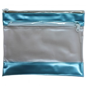 PVC Pencil Case Teal (Pack of 2)