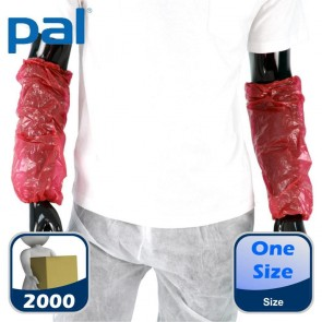 Case of PAL Disposable Oversleeves - Red (20 x 100)