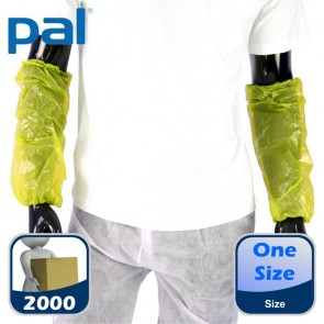 Case of PAL Disposable Oversleeves - Yellow (20 x 100)