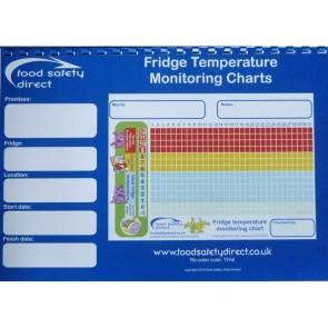Fridge Temperature Monitoring Charts Book (A4 Size)