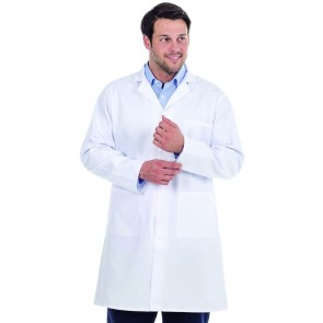 "Clearance Mens/Unisex Lab Coat - Size 46"" Chest - Some light soiling and pen mark inside collar"