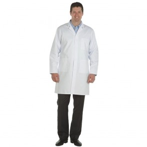 "Clearance Mens Lab Coat (Size 44""/112cm) - Faint stain / soiling may wash out"
