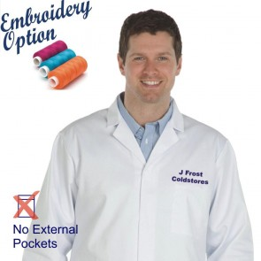 Embroidered Men's (Unisex) Food Trade Coat (No External Pockets)