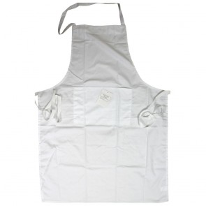 White 100% Cotton Apron - One Only